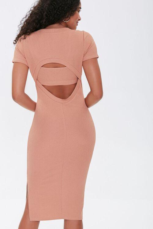 Ribbed Cutout Dress & Cropped Cami Set, image 3