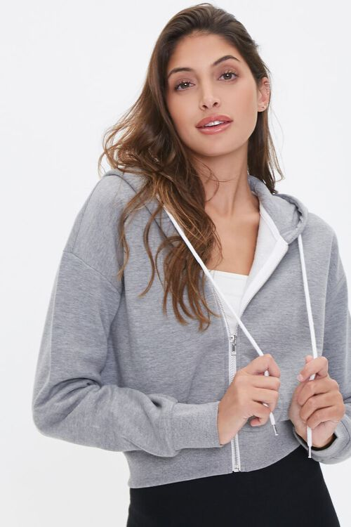 Basic Fleece Zip-Up Hoodie, image 1