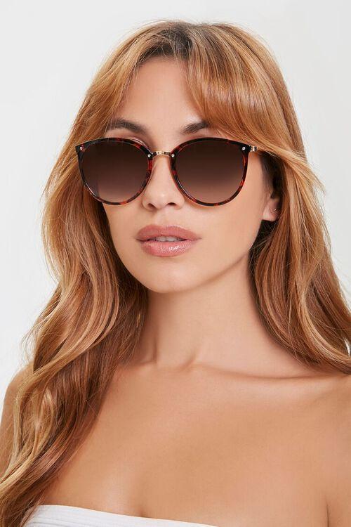 Round Tortoiseshell Sunglasses, image 1