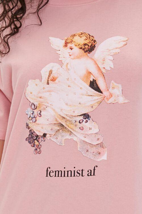 Feminist Cherub Graphic Tee, image 5
