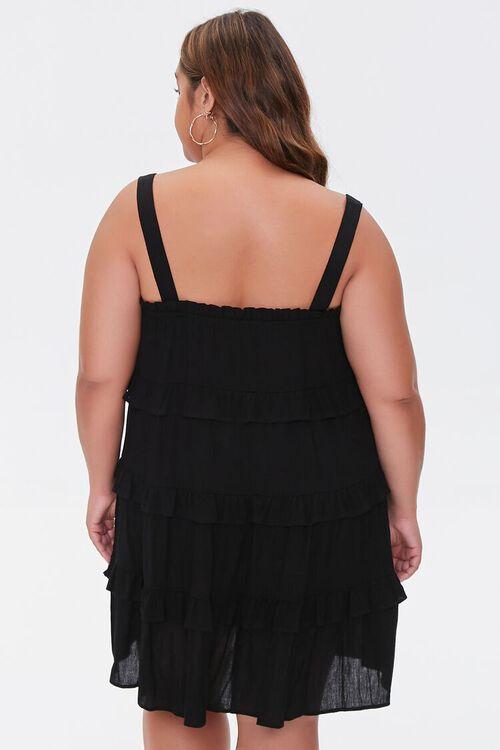 Plus Size Sleeveless Tiered Mini Dress, image 3