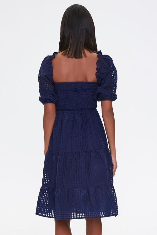 Netted Fit & Flare Dress, image 3