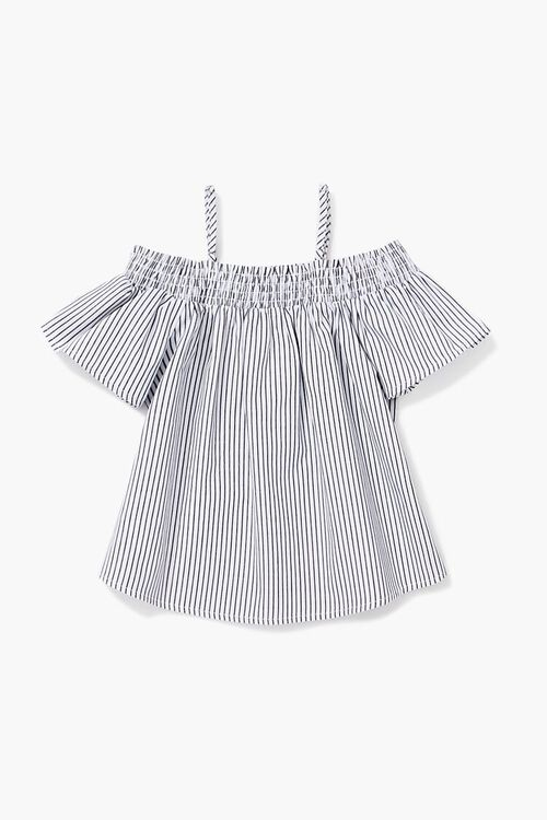 Girls Striped Open-Shoulder Top (Kids), image 2