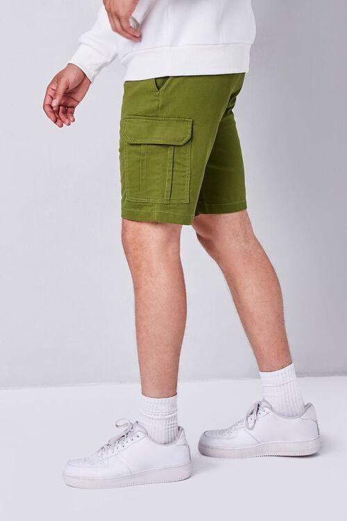OLIVE Drawstring Cargo Shorts, image 3