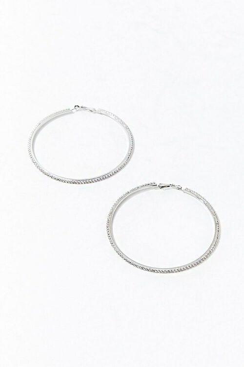 Rhinestone Hoop Earrings, image 3