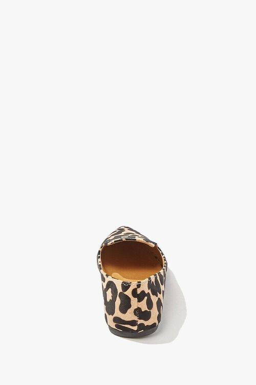 TAN/BLACK Qupid Leopard Print Loafers, image 3