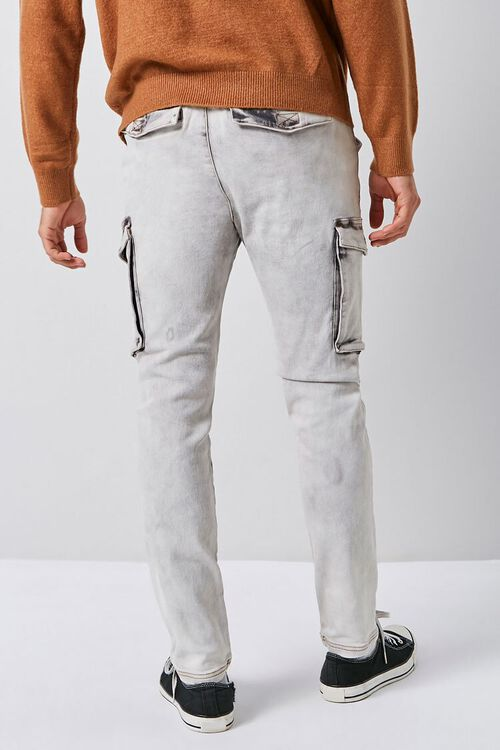 Bleach Washed Cargo Jeans, image 4