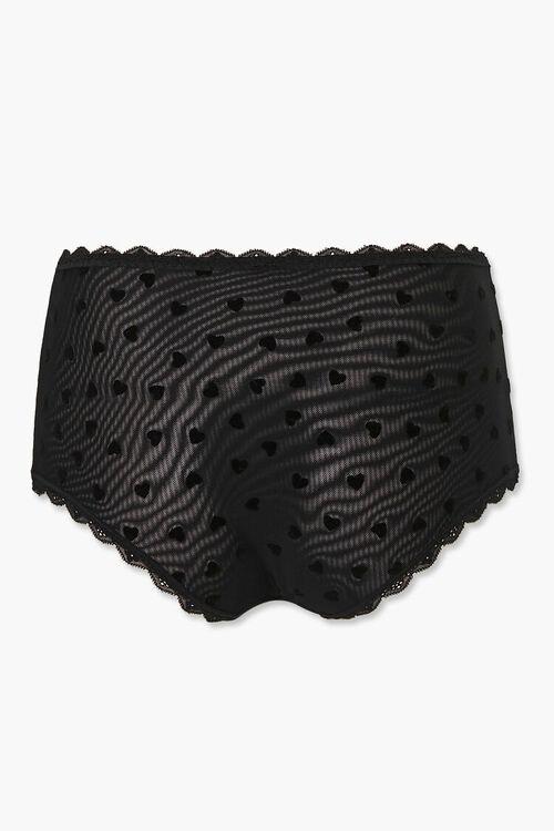 Heart Print Mesh Panties, image 3