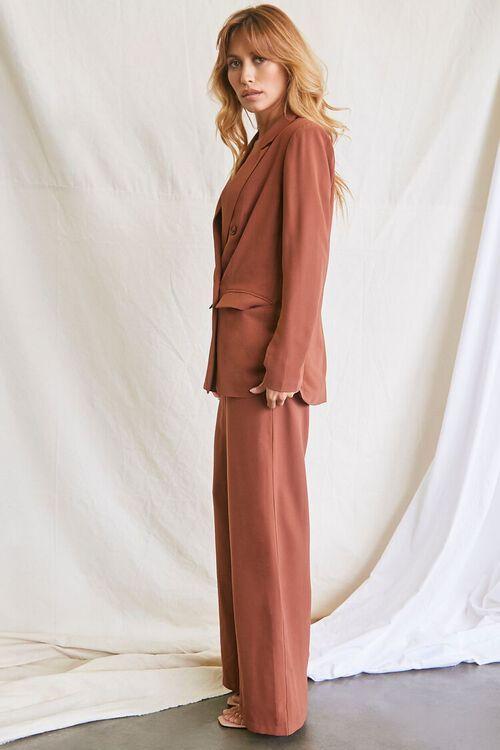 DARK BROWN Double-Breasted Blazer & Pants Set, image 2