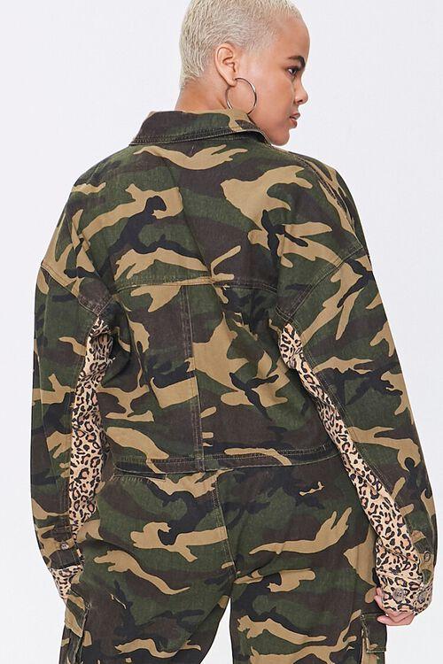 Plus Size Camo Leopard Jacket, image 3