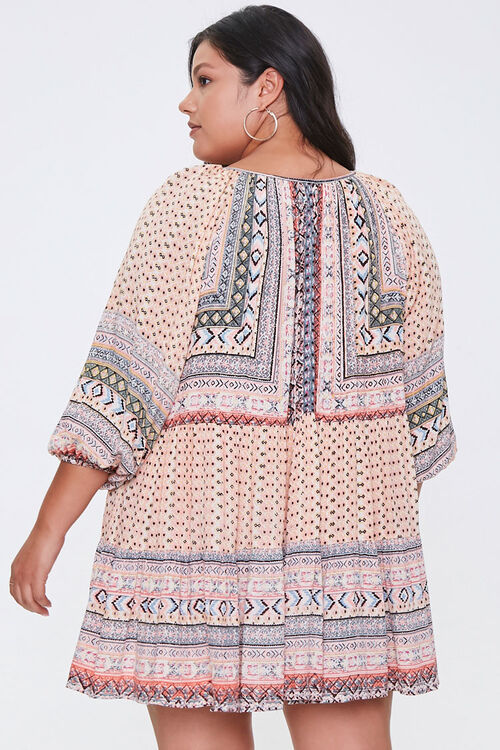 Plus Size Ornate Peasant Tunic, image 3