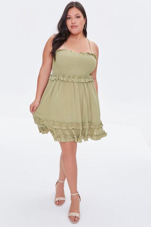 OLIVE Plus Size Ruffle-Trim Cami Dress, image 4