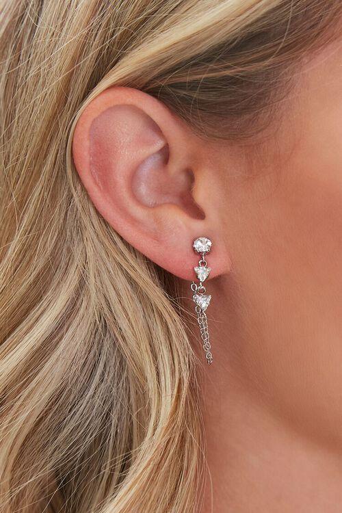 Faux Gem Drop Earrings, image 1