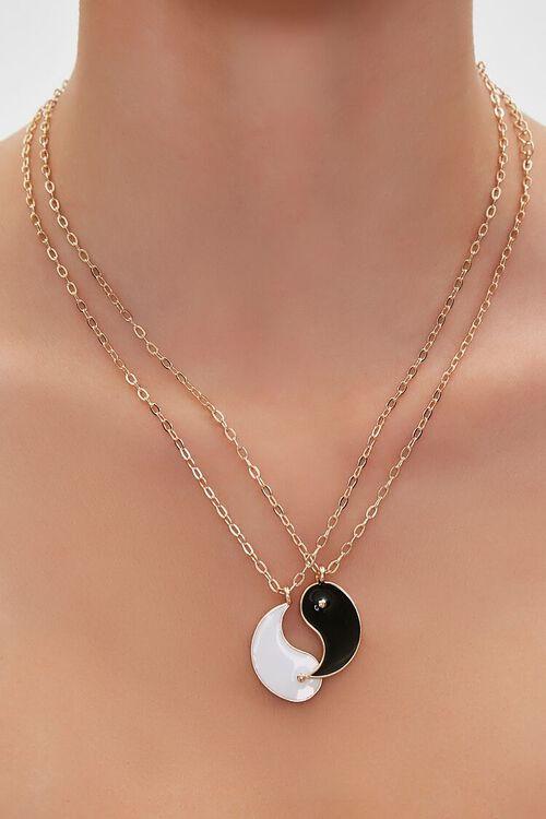 Yin Yang Pendant Necklace Set, image 1