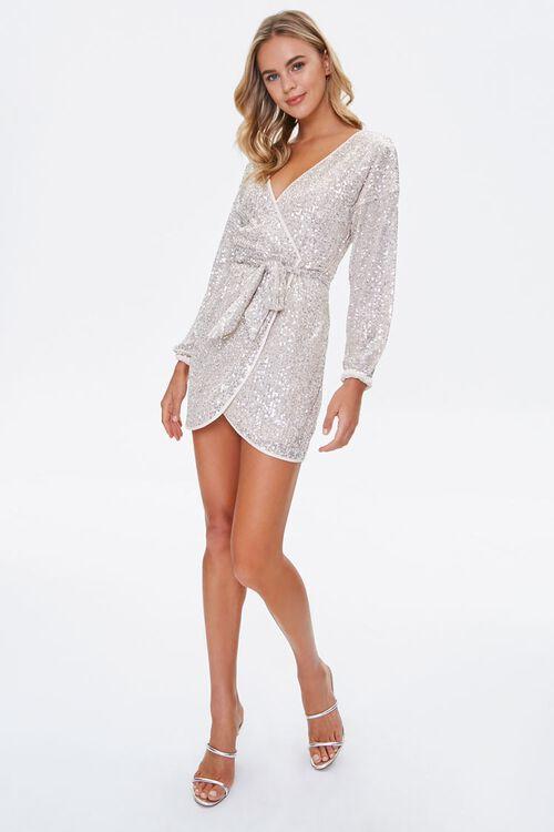 Glittered Wrap Dress, image 4
