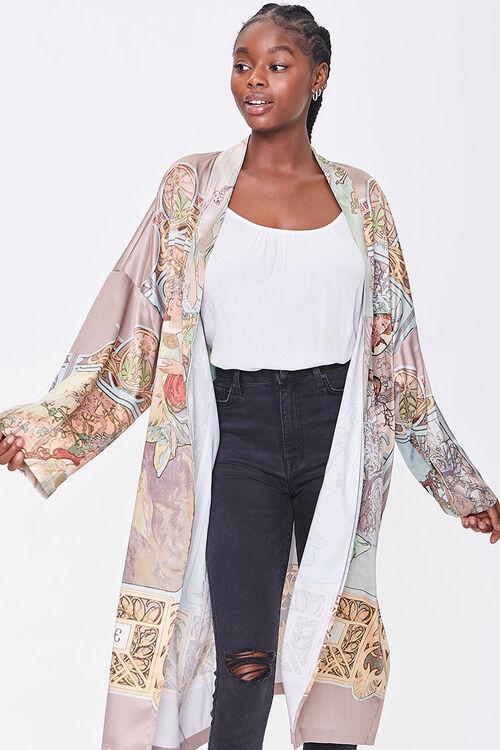 Alphonse Mucha Print Kimono, image 1