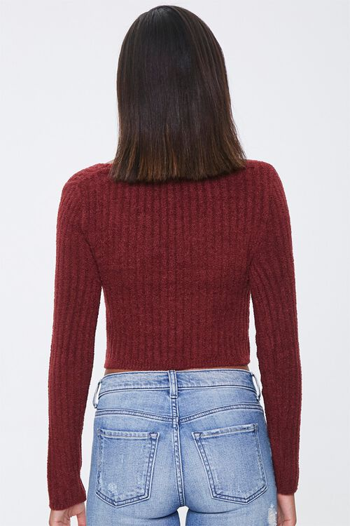 Ribbed Fuzzy Knit Sweater, image 3