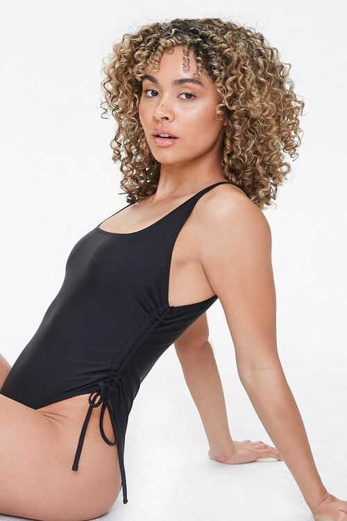 Drawstring One-Piece Swimsuit, image 1