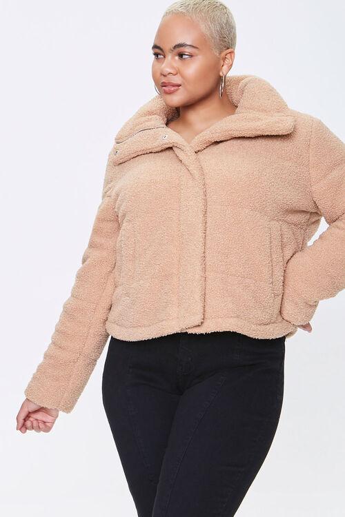 Plus Size Faux Shearling Coat, image 1