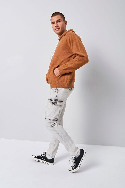 Bleach Washed Cargo Jeans, image 1