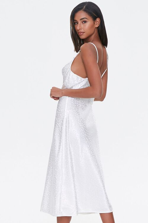 Satin Leopard Print Slip Dress, image 2