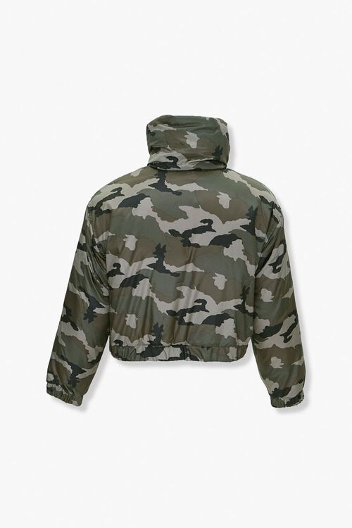 Plus Size Camo Puffer Jacket, image 3