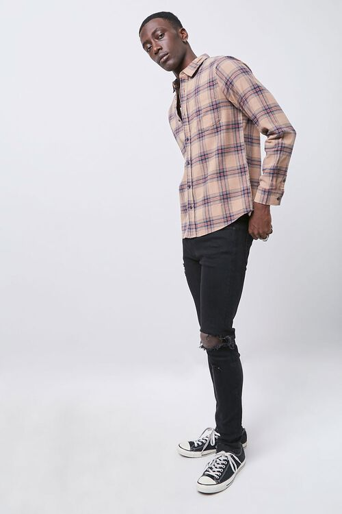 Classic Fit Plaid Flannel Shirt, image 4