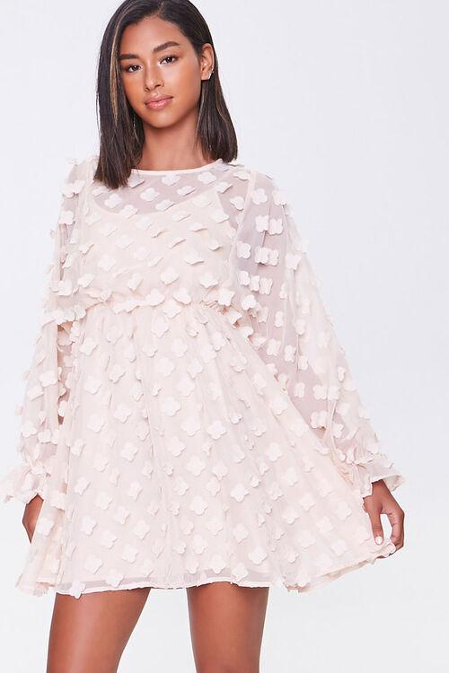 Clover-Embellished Fit & Flare Dress, image 1