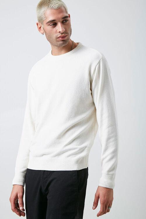 Chenille Crew Neck Sweater, image 1