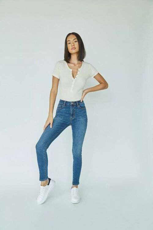 Mid-Rise Skinny Jeans, image 4