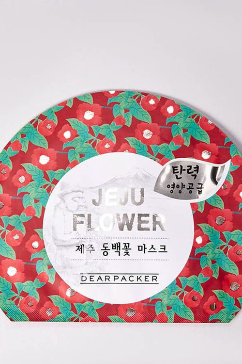 Camellia Flower Sheet Face Mask, image 1