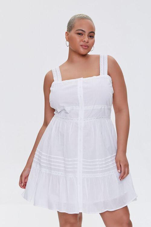 Plus Size Fit & Flare Mini Dress, image 1