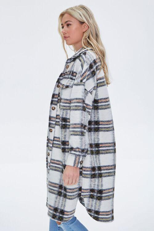 Brushed Plaid Longline Jacket, image 2