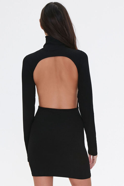 Open-Back Turtleneck Dress, image 3