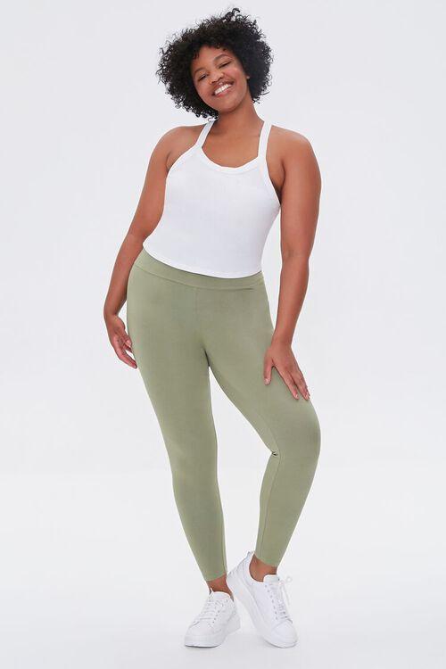 OLIVE Plus Size Basic Organically Grown Cotton Leggings, image 5