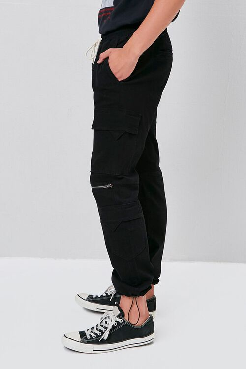 Zippered Drawstring Cargo Pants, image 3