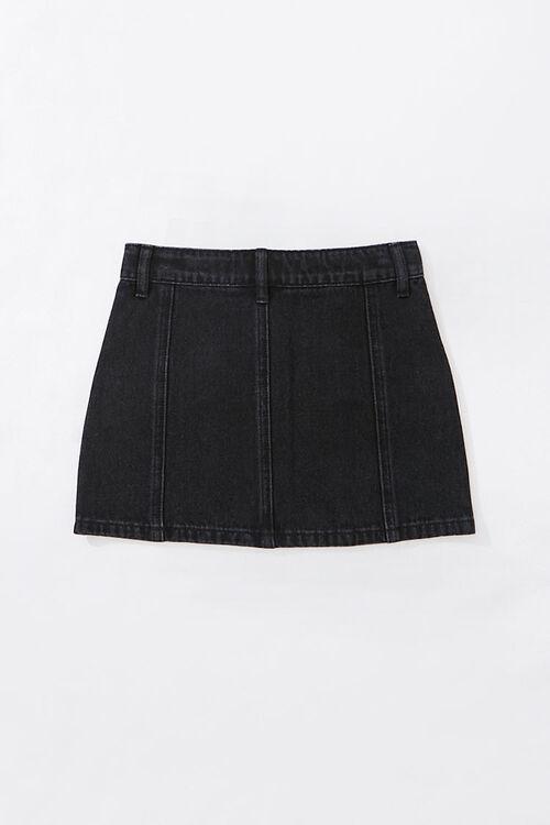 Girls Zip-Up Denim Skirt (Kids), image 2