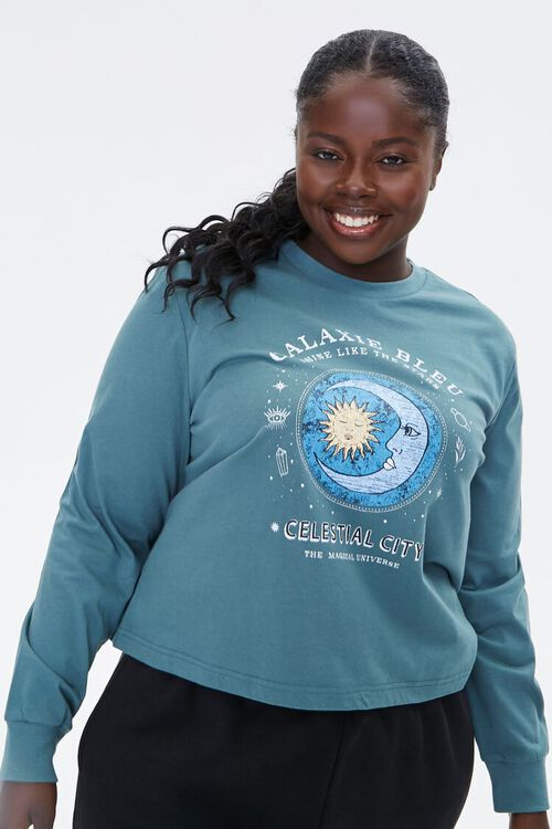 Plus Size Celestial Graphic Pullover, image 2