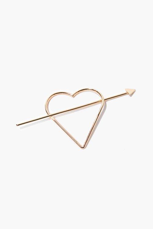 Heart & Arrow Hair Clip, image 1