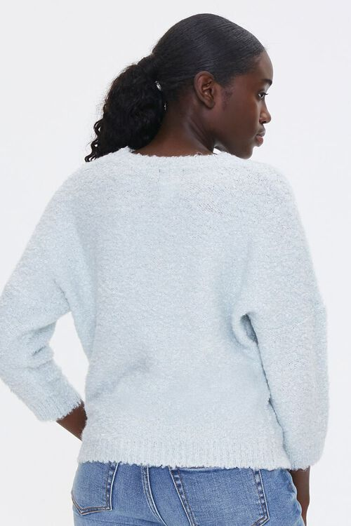 Fuzzy Crew Neck Sweater, image 3