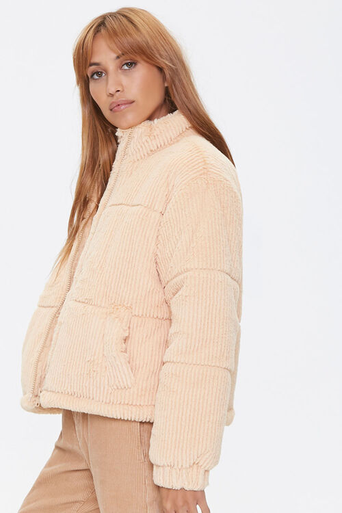 Plush Quilted Puffer Jacket, image 2