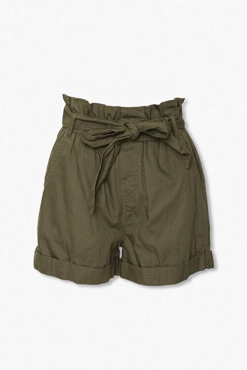 Sash Belt Paperbag Shorts, image 1