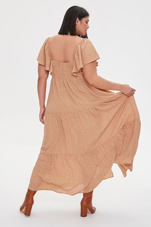 Plus Size Spotted Maxi Dress, image 3