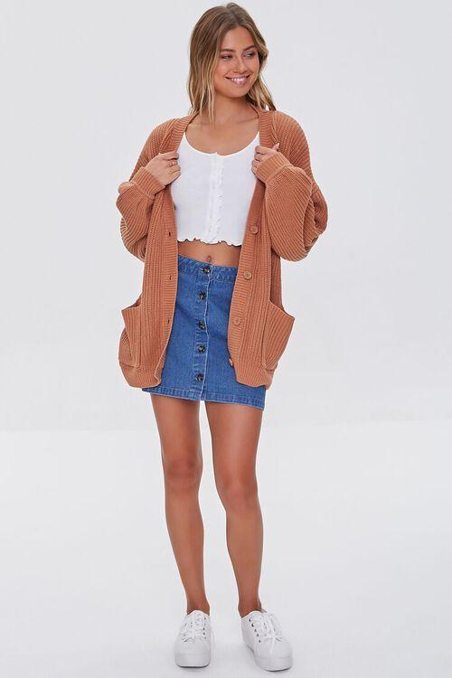 Balloon-Sleeve Cardigan Sweater, image 4