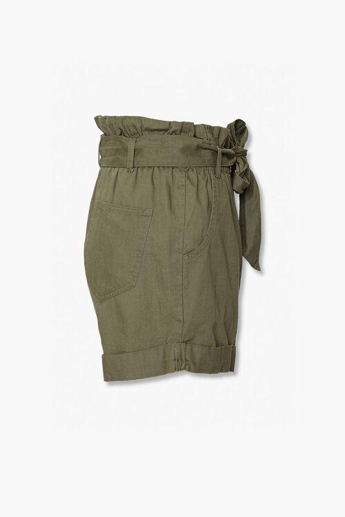 Sash Belt Paperbag Shorts, image 2