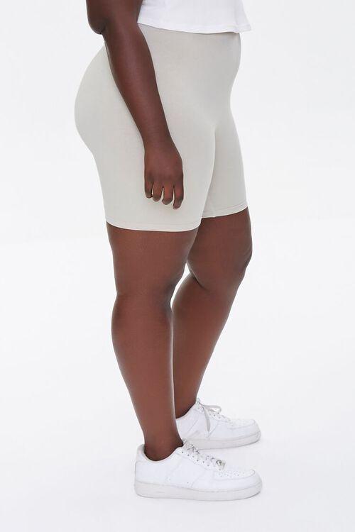 Plus Size Basic Organically Grown Cotton Biker Shorts, image 3