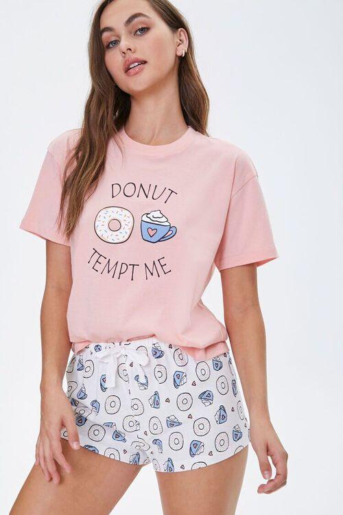 Doughnut Tee & Shorts Pajama Set, image 1