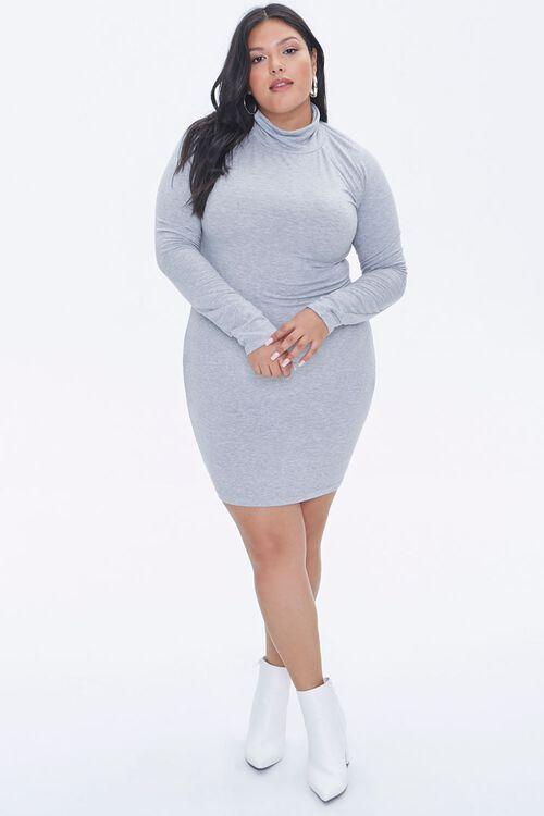 Plus Size Turtleneck Mini Dress, image 4