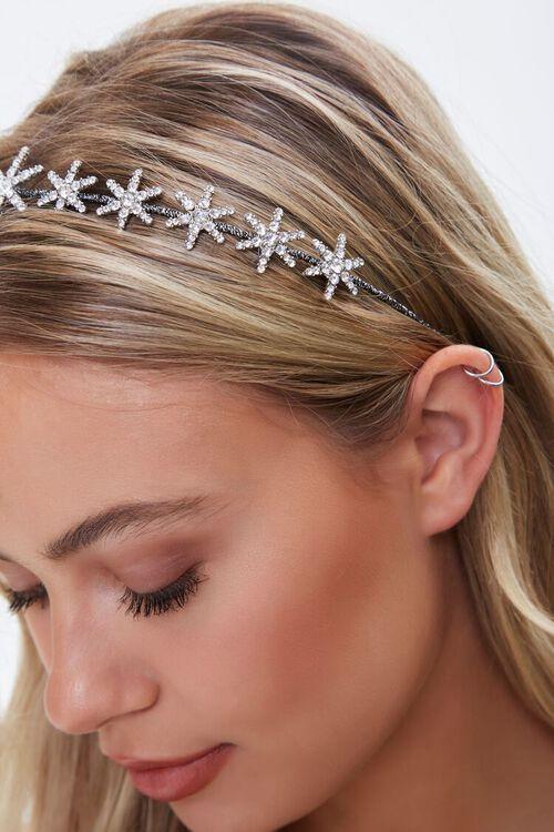 SILVER Rhinestone Star Headband, image 2