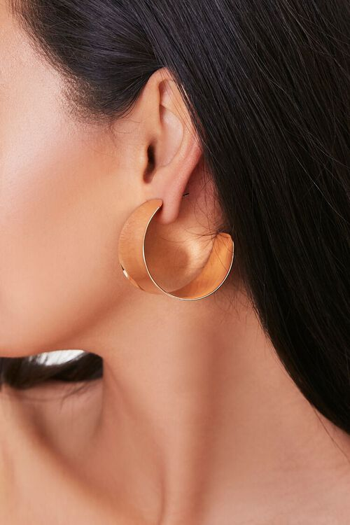 Flat Hoop Earrings, image 2